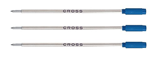 - Cross Medium Ballpoint Pen Refill - Blue (Pack of 3)