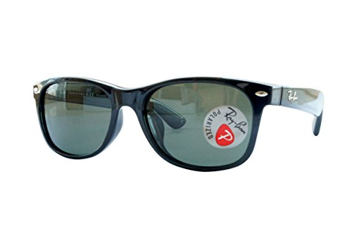 Ray-Ban New Wayfarer Sunglasses (RB2132) Black/Green Plastic - Polarized - - 55 Polarized Rb2132 New Wayfarer
