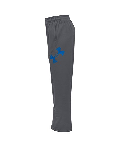 Under Armour Boys' Storm Armour Fleece Big Logo Pants, Graphite/Ultra Blue, Youth X-Large by Under Armour (Image #2)