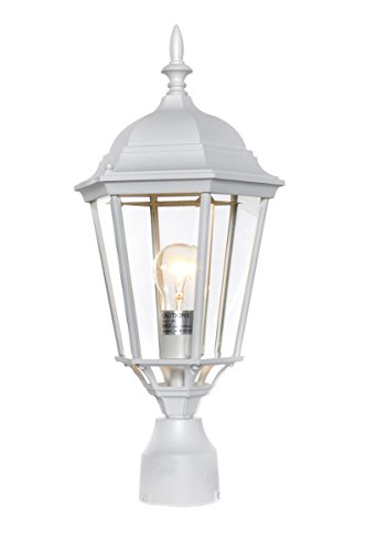 Maxim 1005WT, Westlake Cast Aluminum Outdoor Post Lighting, 100 Total Watts, White