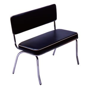 ★アメリカン BENCH SEAT ベンチシート(ブラック) ベンチ ダイナーチェア チェア 椅子 インテリア家具 インテリア B00MWS0WLU