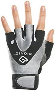 BIONIC Women's StableGrip 1/2 Finger Fitness Gloves w/NaturalFit Technology, Black (Pair)