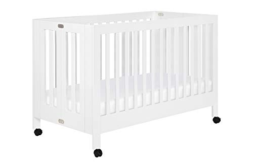 (Babyletto Maki Full-Size Folding Crib, White)
