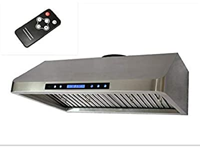 "30"" Stainless Steel Remote Control Baffle Filter Under-cabinet Range Hood With"
