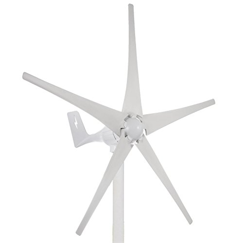 Happybuy Wind Turbine Generator 500W DC 24V Wind Turbine 5 Blade Low Wind Speed Starting NSK Bearings Garden Street Lights Wind Turbines with Charge Controller Garden by Happybuy (Image #3)