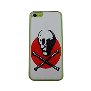QYF Cool Skull Pattern PC Back Case for iPhone 5C