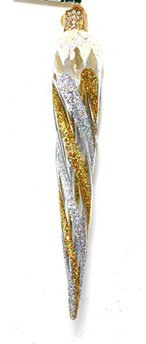 Silver and Gold Icicle Ornament
