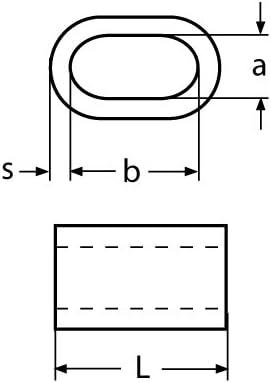5 x PRESSKLEMME F/ÜR SEIL 3mm EDELSTAHL Drahtseilklemme Stahlseil Seil Draht Stahl Drahtseil