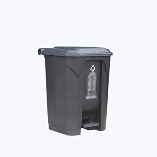 滑らかな表面 街のゴミ仕分けボックス、工場学校遊び場ペダル型ゴミ箱大型防水リサイクルビン38 * 41 * 56.5CM リサイクル可能なデザイン (Color : Gray, Size : 38*41*56.5CM)