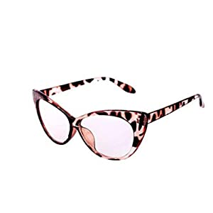 Sonmer Fashion Retro Big European And American Style Cat Eye Frame Sunglasses (Brown/Clear)