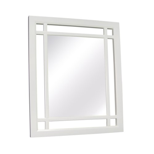 amazoncom elegant home fashions neal collection framed mirror white home kitchen