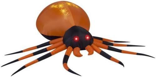 Halloween 8' Projection Airblown Black & Orange Spider -