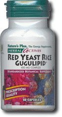 Nature's Plus - Herbal Actives Red Yeast Rice/Gugulipid 450 mg Complex, 60 Vcaps