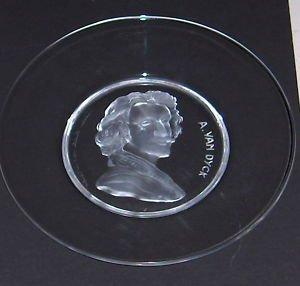 (Val St. Lambert --Vintage Belgium Crystal-- SIGNED! -- A. Van Dyck)