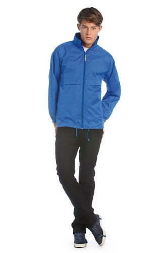 B&C Collection JU801 Mens Air Lightweight Jacket - Navy Blue - Small