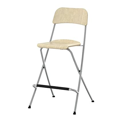Groovy Ikea Franklin Bar Stool With Backrest Foldable Birch Gmtry Best Dining Table And Chair Ideas Images Gmtryco