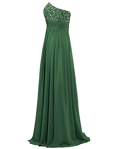 Dresses Gown Long ANTS Prom Hunter Chiffon Women's Green Party Strapless Bead 8T8xYn