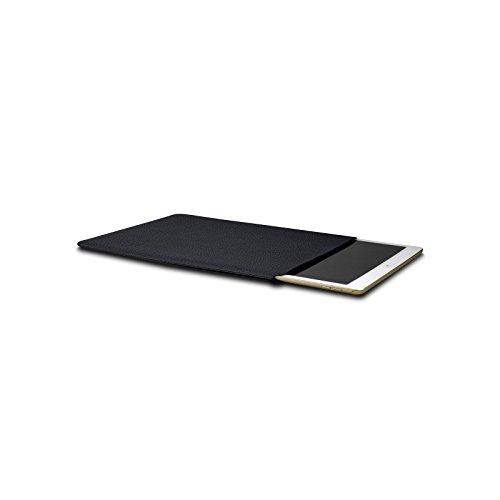 Lucrin - Macbook 13Touch bar(2016)/iPad Pro 12,9 Zoll Schutzhülle - Schwarz - Leder genarbt Königsblau