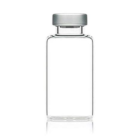 55012e1270e9 20mL Sterile Clear Glass Serum Vials - 5 Pack