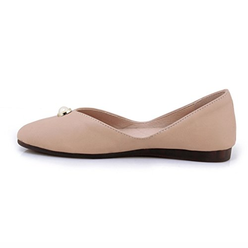 Femmes pour Color 36 Travail femme Apricot Plates Chaussures HWF Étudiant Décontracté Couleur Femme Simples Chaussures Chaussures de Soft Chaussures Bottom Fille Mme Taille Noir Été BStqI6wn