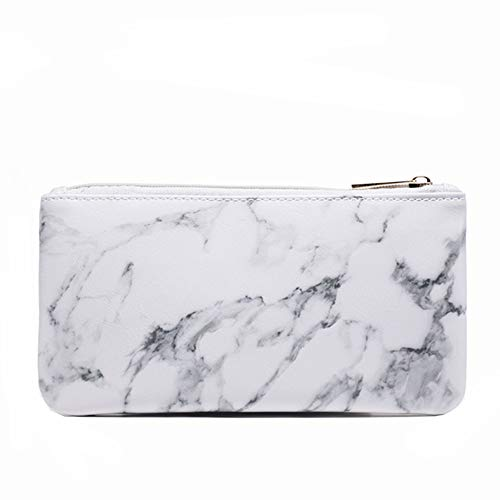 Joyful Marble Cosmetic Bag Zipper Storage Bag Portable Ladies Travel Square Makeup Brushes Bag Marble Pencil Case(8.7x4.5)