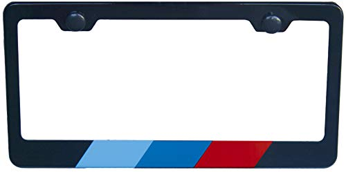 International Tie Flag-Themed License Plate Frame, High Grade 304 Stainless Steel (M Stripe)