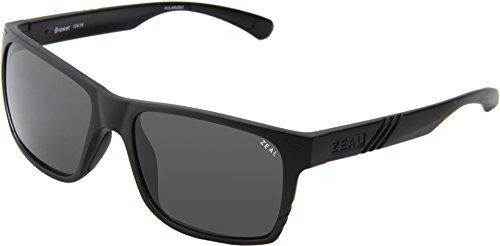 Zeal Optics Unisex Brewer Matte Black W / Dark Grey Polarized Lens - Sunglasses Zeal Warranty
