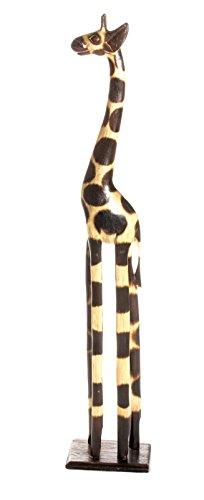 60cm Holz Giraffe Holzgiraffe Deko Afrika Style Handarbeit ...