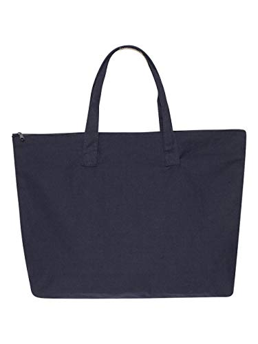 Liberty Bags Amanda Canvas Zippered Tote OS NAVY