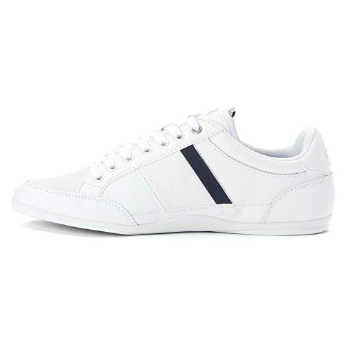 Lacoste Men's Chaymon CR White/Dark Blue Sneaker 11 M: Amazon.co.uk: Shoes  & Bags