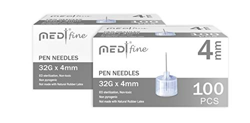 MedtFine Insulin Pen Needles 32G 4mm (5/32