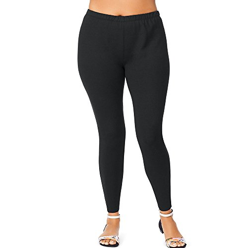 Just My Size Women's Plus-Size Stretch Jersey Legging, Black, 2X