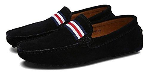 De Mocassins En Bateau Hommes Daim Eagsouni 1noir Casual Penny Ville Loafers Chaussures Flats 1AqRF
