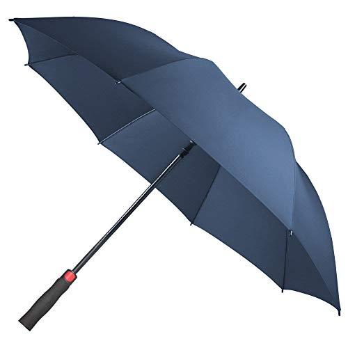 cd075647c9e2a Saiveina 62 inch Large Windproof Golf Umbrella, Auto Open, 8 Ribs  Fiberglass Strong Straight