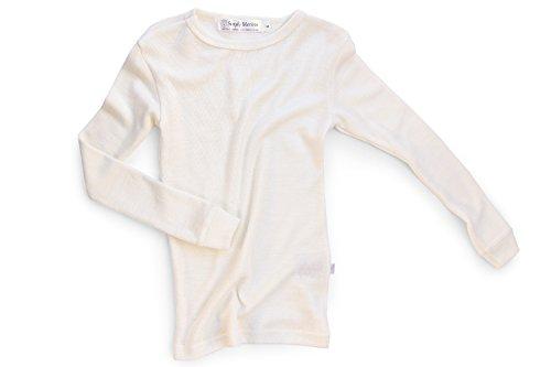 Merino Wool Kid White boy and Girl. Thermal Underwear Base Layer Unisex. Size 6 by Simply Merino (Image #6)