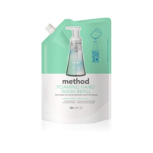 Method Foaming Hand Soap, Refill, Coconut Water, 28 Fl. Oz (Pack of - Foaming Refill Hand Method Wash