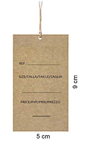 200 Etiquetas kraft personalizadas 74 x 35 mm para cerrar ...