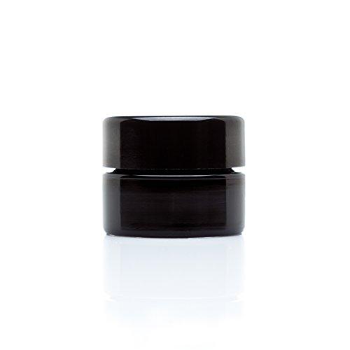 Infinity Jars 5 Ml (.17 fl oz) 10-PACK Set Palm Size Black Ultraviolet Glass Screwtop Jar (Antique Spice Jars compare prices)