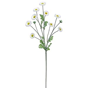 "29"" Silk Aster Daisy Flower Spray -White (Pack of 12) 105"