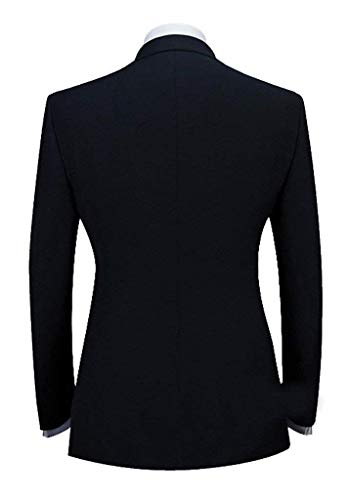 George Fumer Avec Pièce Schwarz Hommes Mince Coupe Smokings De Mariage Blazer 1 Broderie Veste Vêtements Costume AOYwtBqW
