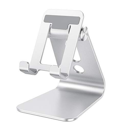 OMOTON C3 Cell Phone Stand for Desk, Larger and Exceptionally Stable, Adjustable Phone Cradle Holder with Bigger Body…