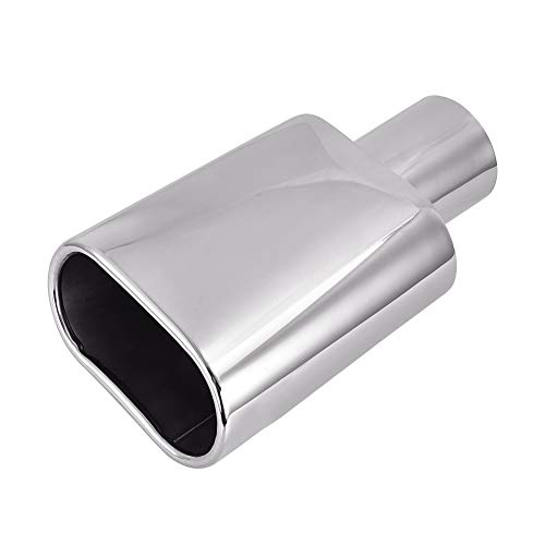 - TOHUU Stainless Steel Weld -On Rolled Oval Slant Exhaust Tip 2.5