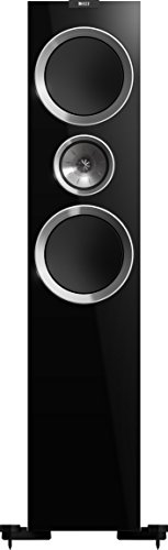 KEF R900 Floorstanding Loudspeaker - High Gloss Piano Black (Pair) (Freestanding Mid Range)