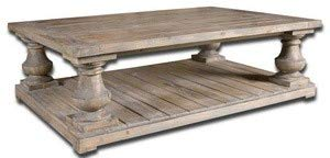 Uttermost 24251 Stratford Rustic Cocktail Table, Stony Gray Wash (Baluster Table)