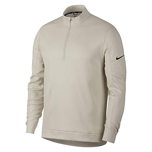 Mens Pullover Golf - NIKE Therma Repel Top Half Zip OLC Golf Pullover 2018 Light Bone/Black Large