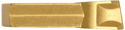 "Dorian Tool SGT CVD Titanium Nitride Coated Carbide Cut-Off and Grooving Insert, Right Cut, 5/32"" Cutting Width, 4"" Insert (Pack of 10)"