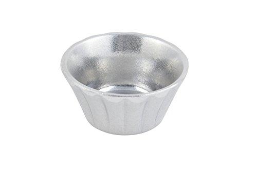 Bon Chef 9102PG Aluminum Pewter Glo Large Stackable Ramekin, 4 oz Capacity, 3-1/2 Diameter (Pack of (Chefs Ramekins)