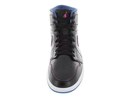Nike Air Jordan 1 MID - Zapatillas de deporte, Hombre Negro / Rosa / Azul (Black / Fire Pink-Photo Blue)