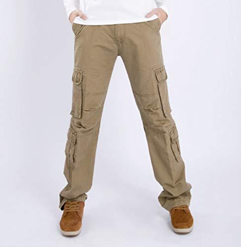Travail Pantalons Long Kaki Cargo Extérieur À Pants Cayuan Men Pantalone Poches Multiples Classic qIwvxOBT