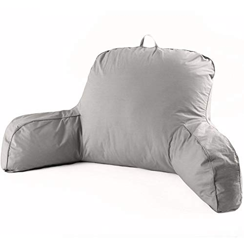 LIQICAI Bedrest Pillows with Arms for Reading in Bed Perfect Support Reading Relaxing Watching TV, 2 Colors Optional (Color : Grey, Size : 70x46x15cm)